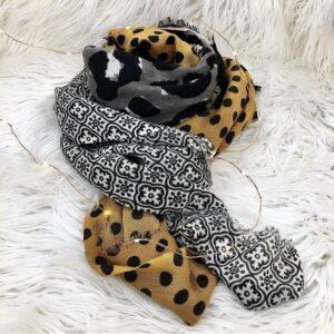 sciarpa donna 100% lana patchwork Giardino d'Oriente pezzi unici colori inverno